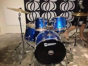 Premier Drum Kit  -22 in., with cymbals, hi hat, carry bags, etc. Mooloolah Valley Caloundra Area Preview