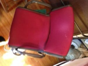 Black & Red Gliding/Swivel Office Chair Peterborough Peterborough Area image 2
