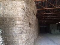 straw bales in enclosed shed