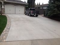 Concrete, driveways, walkways, patios and pads