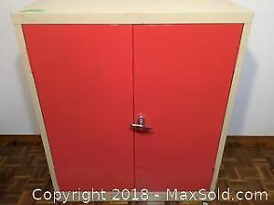 Metal, Two Door Storage Cabinet