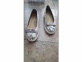Ladies silver shoe (size 3) little bo peep shoes Ordered but too small (brand new)
