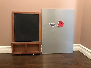 Children's Chalk Board and Magnetic Board