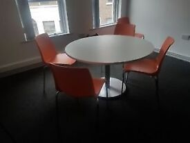 Ccafe tables with matching chairs