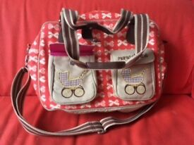 Pink Lining Diaper Bag new