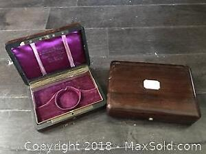 2 Antique Pocket Watch Boxes Pickup B