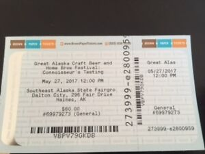 Great Alaska Craft Beer Tickets