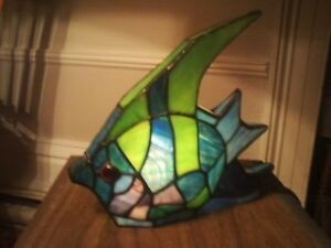 Stained Glass FISH Portable Lamp VG