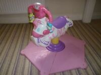 Fisher Price Bounce and Spin Zebra (Pink)