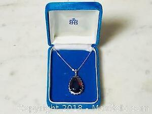 27.57 ct tcw Rubellite 14K White Gold Diamond Necklace with COA $ 20 k Appraisal