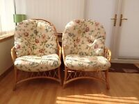 Conservatory furniture: 1x two seater and 2x single seat chairs