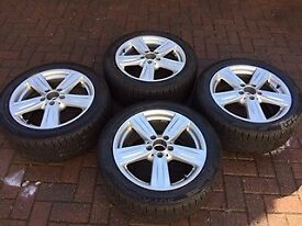 Mercedes alloys with winter tyres. Get them before the snow gets really bad!