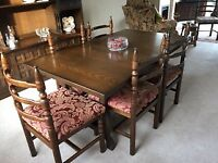 Youngers Furniture - Toledo Range Table and 5 Chairs