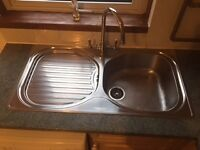 Franke Stainless Steel Single Bowl Kitchen Sink With Drainer & Swan Neck Tap