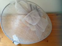 Silver Grey sinamay large fascinator brand new with tags from Debenhams