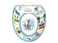 Mickey & Donald Soft Cushioned Toilet Seat New never used