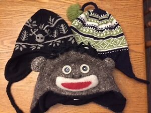 Winter's Back:Boys Winter Hats:Fits 3-6 yr olds; Great Condition