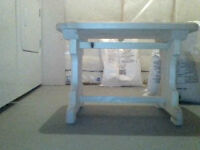 Trestle table and 3 legged stand
