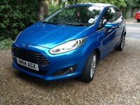 2014 Ford Fiesta 1.0 ecoboost in candy blue