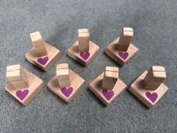 Table number holders - great for weddings or display names