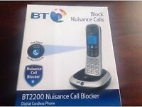 BNIB BT 2200 NUISANCE CALL BLOCKER DIGITAL PHONE