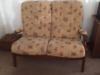 Two Seater Sofa & Matching Chair Suit Conservatory