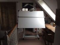 Parallel motion drawing board. A0 size on fully adjustable stand. Top British make.