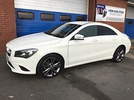 MERCEDES-BENZ CLA CLA200 1.8 CDi SPORT 4dr 136 BHP * Leather & Sat N (white) 2014