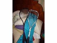 3 Squash rackets : Slazenger PRINCE EXTENDED PRECEDENCE, TITANIUM FORCE MOTION AND DONNAY