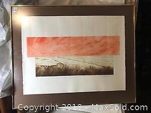 Signed Limited Edition Print 38/50 Airport 7 By Michael A Rileceal 1975