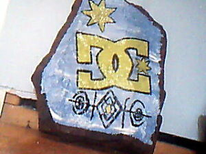 DC/ TREE OF LIGE painting on Slate Rock