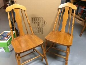 2 kitchen arrow back chairs