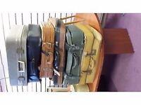 Retro suitcases job lot