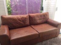 Tan leather sofa for sale
