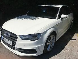 AUDI A3 2.0 TDi S LINE 5dr (150) ** Sat Nav + Heated Seats ** (white) 2014