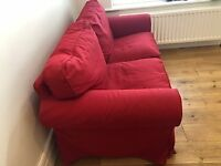 Sofa -red Ikea Ektop sofa, excellent condition, washable covers