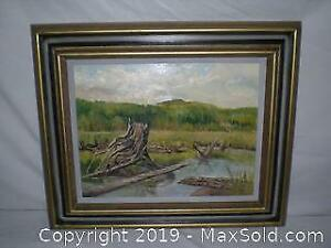 Old oil painting at the back signed Whatson