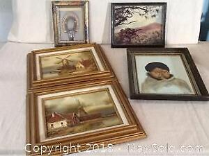 Lot Of Pictures And Oil Paintings
