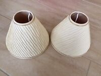 2 |Cream Pleated cone shaped lampshades