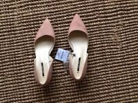 Zara dusty pink kitten heels BRAND NEW