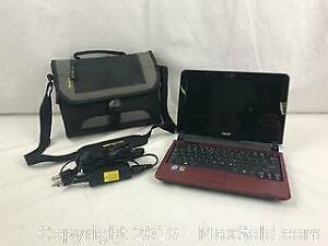 ACER Aspire One Mini Laptop Computer with Case WORKS!
