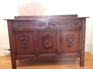 Buffet antique  chene  1880-1900