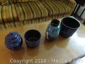 Vintage Blue Mountain vase and more A