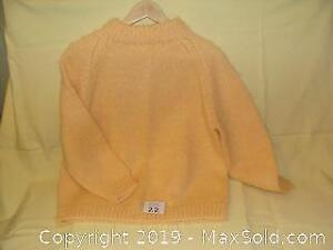 Hand knit wool sweater #3 - pullover style, crew neck