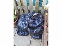FREE Bags of rabbit manure/compost/poo FREE good for the garden/allotment etc