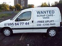 Wanted all scrap jaguars minimum £300