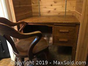 Oak Desk with Oak Chair