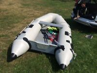 Plastimo inflatable 4 man boat with motor