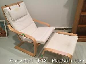 IKEA Chair And Foot Rest B