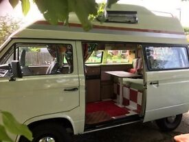 """VW T25 Campervan """"Edith"""" -Petrol & LPG conversion - Long MOT - Ready to go for a family road trip!"""